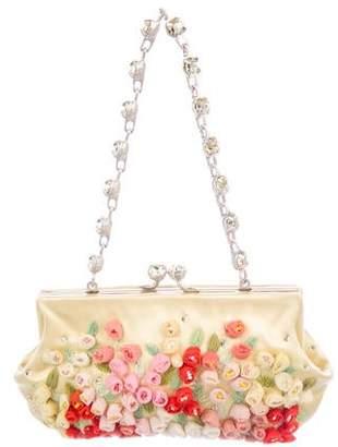 Valentino Embellished Satin Evening Bag