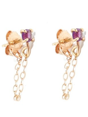 Women's Melissa Joy Manning Amethyst Ear Chains $300 thestylecure.com