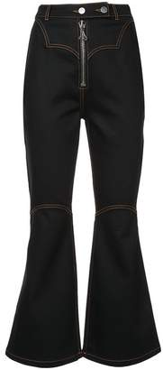 Ellery Flared Overstitch Jeans