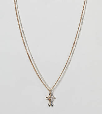 Reclaimed Vintage Inspired Double Cross Necklace In 2 Pack Exclusive To ASOS