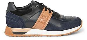 Fendi Men's Logo Leather Sneakers