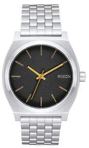 Nixon Time Teller Black Stamped Gold Watch