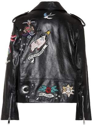 Valentino Beaded leather jacket