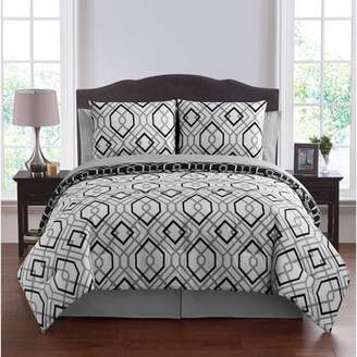 VCNY Home Jackson Geometric Printed Bed-in-a-Bag Comforter Set, Sheet Set Included