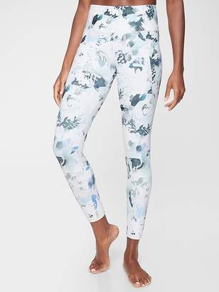 Athleta Stash Pocket Salutation Peony 7/8 Tight