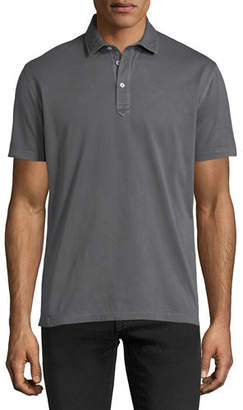 Brunello Cucinelli Solid Jersey Polo Shirt