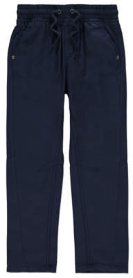 CAT George Navy Elasticated Waistband Trousers