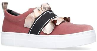 Fendi Ruffle Trim Sneakers