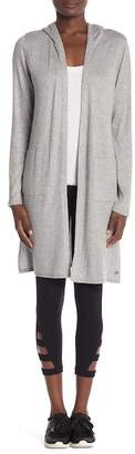Andrew Marc Elongated Hood Cardigan
