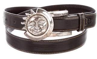 Kieselstein-Cord Leather Buckle Belt