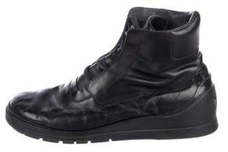 Y-3 Leather Sneakers Boots