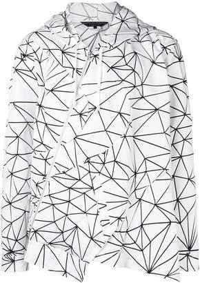 Comme des Garcons geometric-print asymmetric jacket