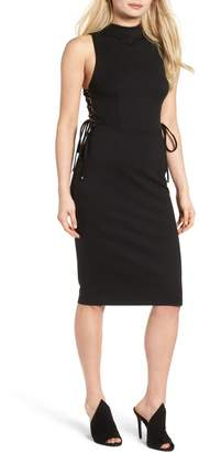 KENDALL + KYLIE Kendall & Kylie Lace-Up Midi Dress