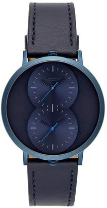 Rebecca Minkoff Griffith Blue Ion Plated Tone Blue Strap Watch, 43Mm