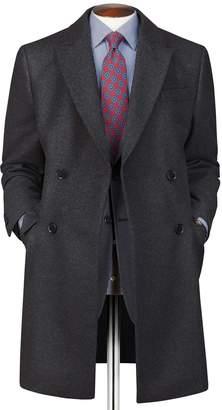 Charles Tyrwhitt Charcoal Wool Cashmere Epsom OverWool/cashmere coat Size 46