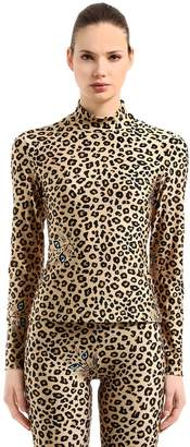 Leopard Printed Stretch Lycra Top