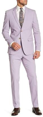 14th & Union Solid Two Button Notch Lapel Extra Trim Fit Suit