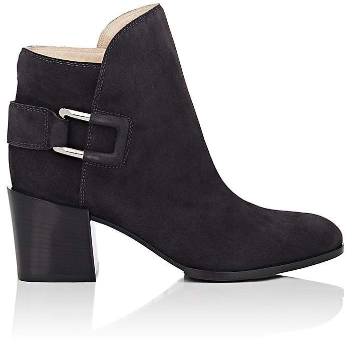Sergio Rossi SERGIO ROSSI WOMEN'S SADDLE SUEDE ANKLE BOOTIES