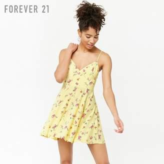 Forever 21 (フォーエバー 21) - Forever 21 フラワーフレアキャミソールミニワンピース