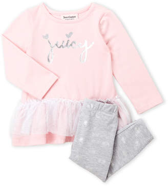 Juicy Couture Infant Girls) Two-Piece Tutu Tunic & Leggings Set