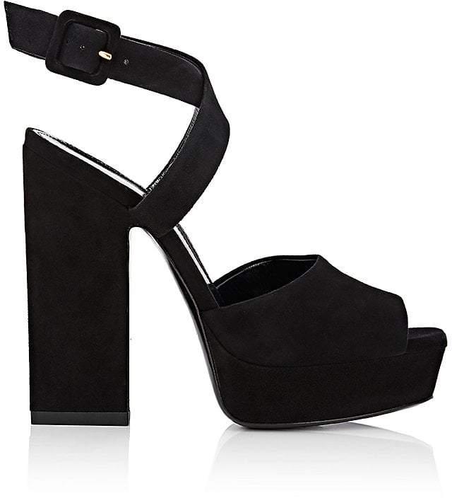 Saint Laurent Women's Debbie Suede Platform Sandals