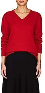 The Row Women's Maley Cashmere V-Neck Sweater-Bright Red