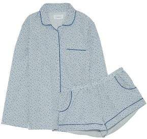 Three J NYC Printed Cotton-Poplin Pajama Set