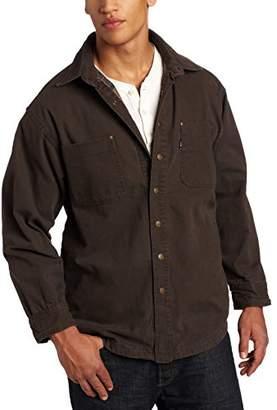 Key Apparel Men's Big-Tall Flannel Lined Duck Shirt/Jacket,-Regular