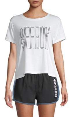 Reebok Logo Outline Crop Tee
