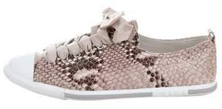 Prada Sport Patent Leather Low-Top Sneakers