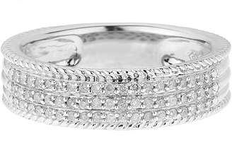 Affinity Diamond Jewelry Affinity 1/4 cttw Diamond 3-Row Band Ring, Sterling