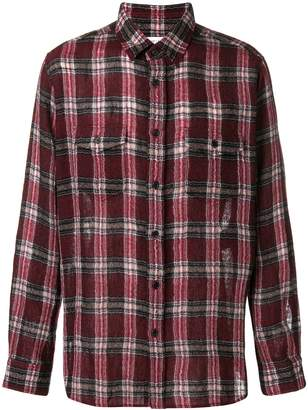 e93a3a09bce Saint Laurent plaid print shirt red/black