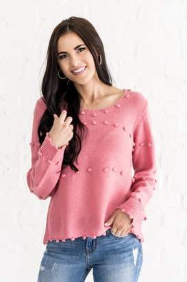Everyday ShopRachel Parcell Pink Lady Pom Pom Sweater