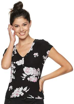 Candies Juniors' Candie's Ruched Floral Top