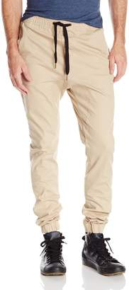 Zanerobe Men's Solid Sureshot Drawstring Chino Jogger Pant