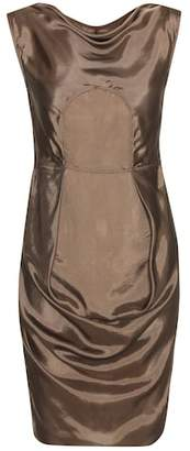 Rick Owens Ruched satin minidress