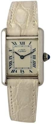 Cartier Tank silver watch