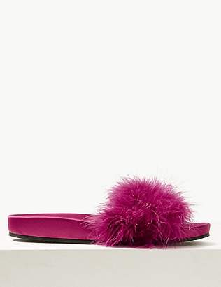 Marks and Spencer Fluffy Mule Slippers