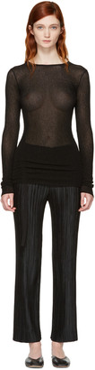 Helmut Lang Black Drawstring Pullover $360 thestylecure.com