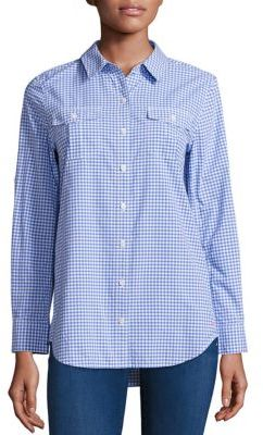 Vineyard Vines Flamingo Gingham Printed Shirt $108 thestylecure.com