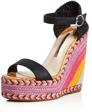 Sophia Webster Women's Lucita Multicolor Wedge Espadrille Sandals