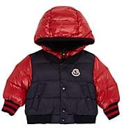 Moncler Kids' Down-Quilted Hooded Coat - Navy