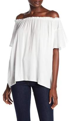 Susina Off-the-Shoulder Short Sleeve Blouse (Regular & Petite)