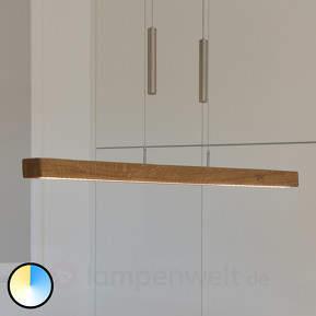 Leonora - höhenverstellbare Holz-Hängelampe m. LED