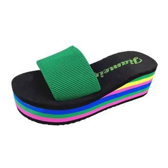 QZBAOSHU Ladies Platform Shoes Women Wedges Summer Beach Slippers