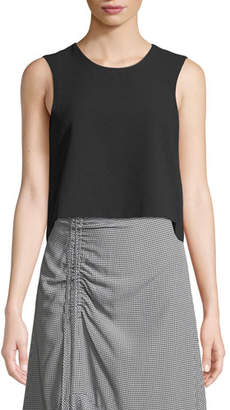 Club Monaco Midian Structured Sleeveless Crop Top