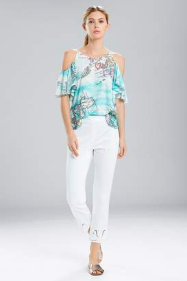 Natori Jeepney and Map Cold Shoulder CamisoleTurquoise