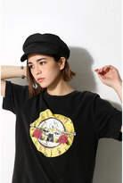AZUL by moussy (アズール バイ マウジー) - GUNSローズモチーフ半袖Tシャツ