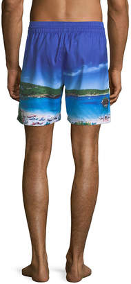 Blueport Swim Ibiza Photograph-Print Swim Shorts