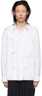 Comme des Garcons White Cotton Bib Shirt